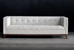 Atwood Sofa Design by Gus Modern-This sofa has beautiful clean lines and can adapt to many different looks from @burkedecor
