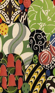 Josef Hoffmann (1870-1956). Easter Card, 1910. Wiener Werkstätte Postcard 5. Chromolithograph. Leonard A. Lauder Collection/Neue Galerie New York