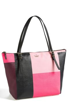 Cute color blocked Kate Spade tote.