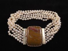 19th Century Cultured Pearl and Yellow Metal by Burnedbunnybling