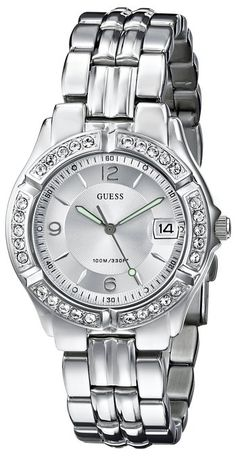 Guess Women's G75511M White Stainless-Steel Quartz Watch