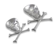 Aluminum Skull Centerpiece Bowls Dish Set.