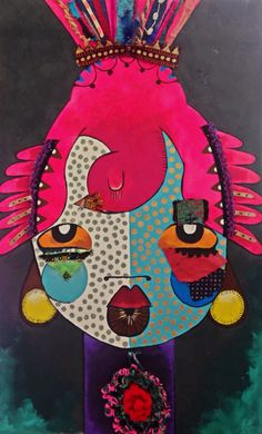 Alinet @alinet.oficial Brasilian artist, embroidery paint, inspired in Ethiopia tribes, mursi and suri #mursi #suri #africanart #embroidery