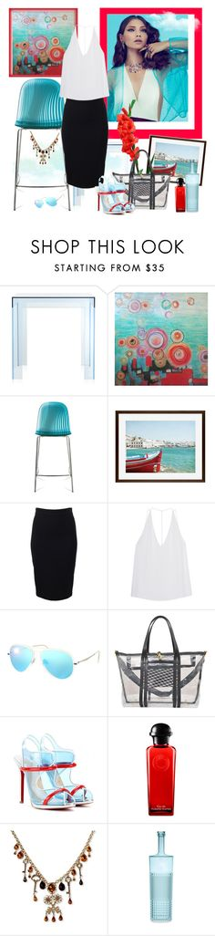 """Transparent Blue...."" by carola-corana ❤ liked on Polyvore featuring Kartell, Yosemite Home Décor, Saylor, Domitalia, Pottery Barn, Givenchy, Cushnie Et Ochs, Ray-Ban, Pierre Hardy and Christian Louboutin"