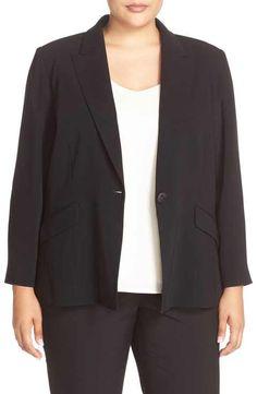Louben One-Button Suit Jacket (Plus Size)