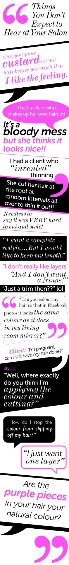 Things You Don't Expect to Hear at Your Salon... - Salons Direct