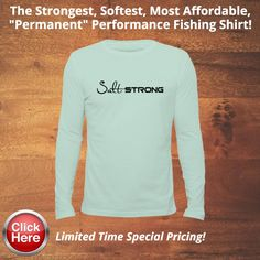 sea foam performance strong angler shirt