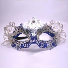 Blue & Silver Decorative Metal Venetian Mask by PartySuppliesDelivered, http://www.amazon.com/dp/B0076VEFSY/ref=cm_sw_r_pi_dp_l9YFrb132908W
