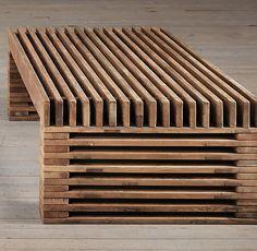 Reclaimed Timber Slat Coffee Table | | Restoration Hardware