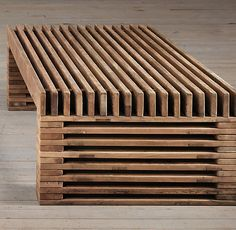 Reclaimed Timber Slat Coffee Table | | Restoration Hardware