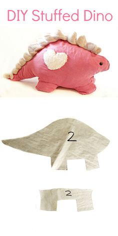 We Lived Happily Ever After: DIY Dinosaur Tutorial I need like 3! There r little girls who I baby sit, and they LOVE Dinos.