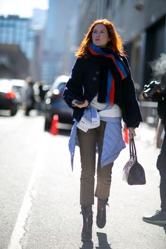 spotted look on the New York Fashion Week 2016