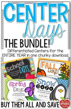 Buy once and done! This is the perfect pack for grades 1-3 teachers who want to have their literacy centers prepped for the ENTIRE year! All centers are differentiated and include a writing extension to help meet the needs of every student in your classroom.