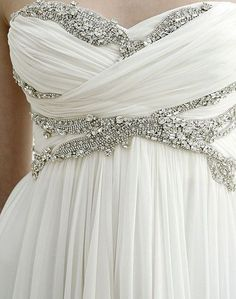 Love the way this dress falls, and the bling is pretty simple/stunning.