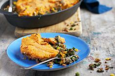 Surprise Shepherd's Pie - I love this recipe because it tastes just as warm and comforting as the meat versions out there, but it has an extra veggie kick from the lentils and veggies which make up the chunky filling.