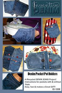 Pot Holders from the pockets of old jeans!