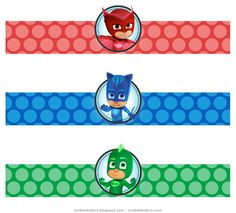 Water Bottle Label---- http://luvibeekidsco.blogspot.com/2016/08/pj-masks-water-bottle-labels-free.html