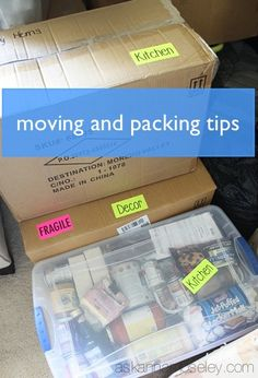 Upgrading your space? Here are some tips for moving and packing with ease.