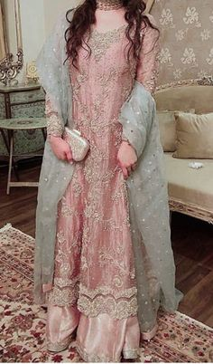 My favorite color Nikkah Dress, Shadi Dresses, Pakistani Formal Dresses, Pakistani Wedding Outfits, Pakistani Dress Design, Bridal Outfits, Indian Dresses, Designer Party Wear Dresses, Indian Designer Outfits