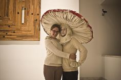 "GORGEOUS mushroom costume, from the Machine Project's ""Fungifest 2010."""