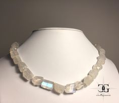 Rainbow Moonstone Necklace | Handmade Necklace | Beaded Necklace | Gemstone Necklace | Classic Necklace | Unique Necklace | by celestialgemstone on Etsy Unique Necklaces, Handmade Necklaces, Unique Jewelry, Moonstone Necklace, Beaded Necklace, Ring Cuts, Feminine Energy, Rainbow Moonstone, Metal Chain