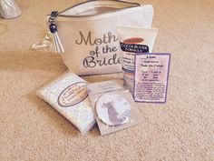 Mother of the bride gift bag | Tissues, Mirror, Hand Cream & Poem