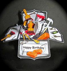 Card Gallery - 3D DIY Handyman Toolbox Rubber Band Pop Up Box Card