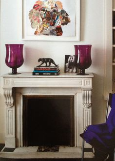 Great fireplace   Loving the colors in this  #Decor #HomeDecor #Interior