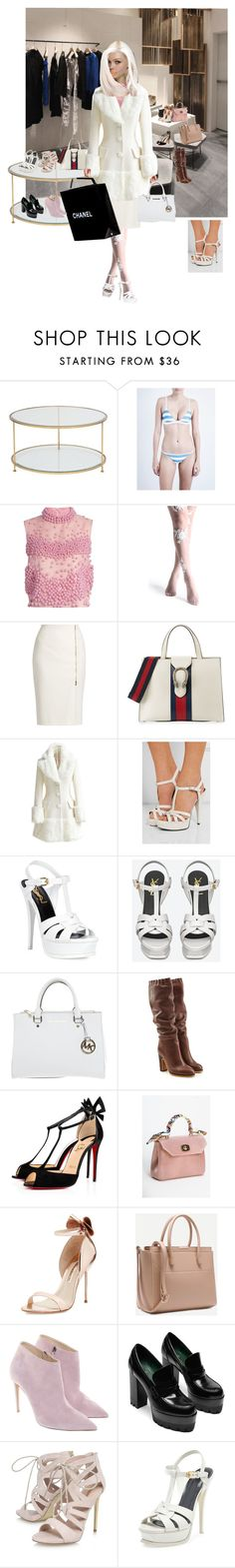 """Sin título #447"" by patricia-fonseca-1 on Polyvore featuring moda, Solid & Striped, Roksanda, MaxMara, Gucci, WithChic, Yves Saint Laurent, Michael Kors, See by Chloé y Chanel"