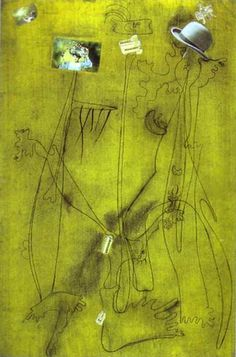 Drawing-Collage with a Hat - Joan Miro
