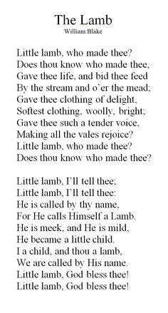 Little Lamb... a favorite