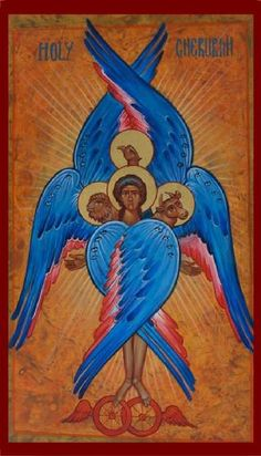 Lessons from the Divine Office of Saint Mark the Evangelist: Ezekiel 1 - 12 St Mark The Evangelist, Order Of Angels, Seraph Angel, Seraphin, Spiritual Eyes, Christian Artwork, Christian Symbols, Biblical Art, Angels And Demons