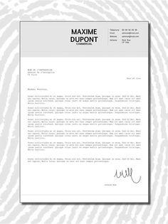 Curriculum Vitae CV Lettre de motivation Design par LOVeANdKLo