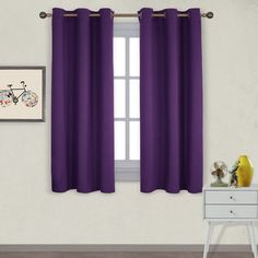 Solid Room Darkening Blackout Drapes for Living Room NICETOWN Bedroom Draperies Blackout Curtain Panels - 34 x 45 inches Set of 2 Panels Lavender Pink//Baby Pink Color
