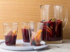 Bobby Flay Sangria. I have made this a few times. I used lambrusco which is good then a cab, merlot mix. I always double this when its more than 3-4 people.  AlwAys a hit. Will continue to make & it's easy.