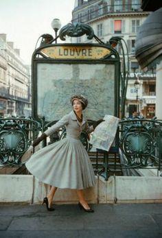 1957 - Christian Dior dress by Mark Shaw