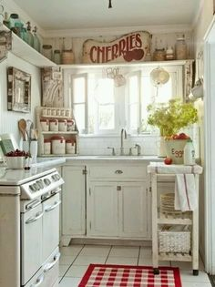 Love it country kitchen red & white