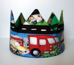 TruckThemed Birthday or DressUp Crown  by AuroraSpitfire on Etsy, $20.00
