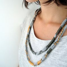 upcycled t-shirt necklace