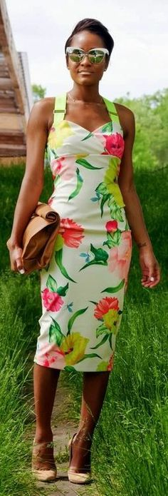 Neon Color Printed Mini Dress For Parties
