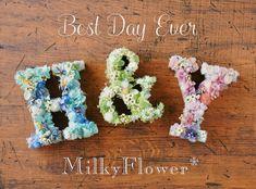Wax Tablet, Flower Basket, Best Day Ever, Diy Wedding, Wedding Ideas, Diy And Crafts, Initials, Wedding Decorations, Party