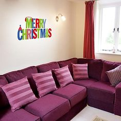 "ZOOYOO® Cute Colorful PVC Removable word ""merry christmas"" style of Wall Stickers and Wall Decals For Home Decor – EUR € 13.63"