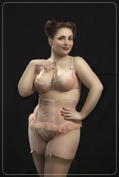 I love this outfit, it's always nice to see a curvy, confident woman showing off her curves in beautiful lingerie.