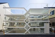 S-House / Yuusuke Karasawa Architects Completed in 2013 in Chichibu Japan. Images by Koichi Torimura. The project is a small house built in a residential area near Omiya station in Saitama. Two floors are cross over in two levels on a site that. Architecture Du Japon, Minimalist Architecture, Japanese Architecture, Contemporary Architecture, Amazing Architecture, Interior Architecture, Organic Architecture, Architecture Details, Contemporary Design