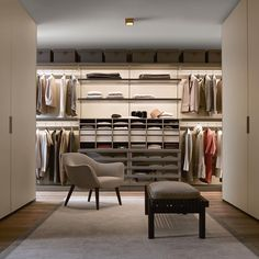 "199 Likes, 2 Comments - Poliform|Varenna (@poliform_official) on Instagram: ""Ubik walk-in closet and Skin wardrobes are the perfect union for a dream closet. #poliform #design…"""