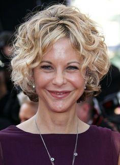 Meg Ryan Short Curly Hairstyles | Short Haircuts for Older Ladies: Meg Ryan Curly Hairstyle / Source