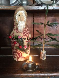 "Primitive Colonial Belsnickel Old World Santa Make Do Made In USA 13"" #NaivePrimitive"