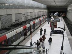 Charles de Gaulle Airport Terminal 2 Train Platform  Very good directions into Paris