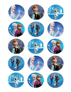 (1) sheet of 15 toppers Amaze your guests by dressing up your cupcakes, cookies or lollipops with these edible image toppers. Each topper measure