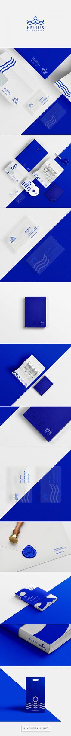Helius bookshop Branding on Behance Brand Identity Design, Corporate Design, Branding Design, Branding Agency, Logo Branding, Wind Logo, Logo Simple, Book Logo, Watercolor Logo